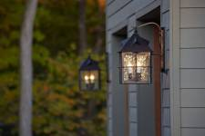 The perfect garage lighting will make your new overhead door shine
